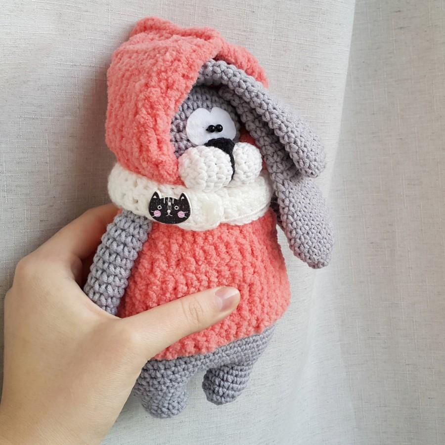 Mariage - Bunny stuffed toy doll knitted bunny crochet bunny hand knit toy plush bunny funny toy plush bunny doll fuzzy bunny toy Easter decor