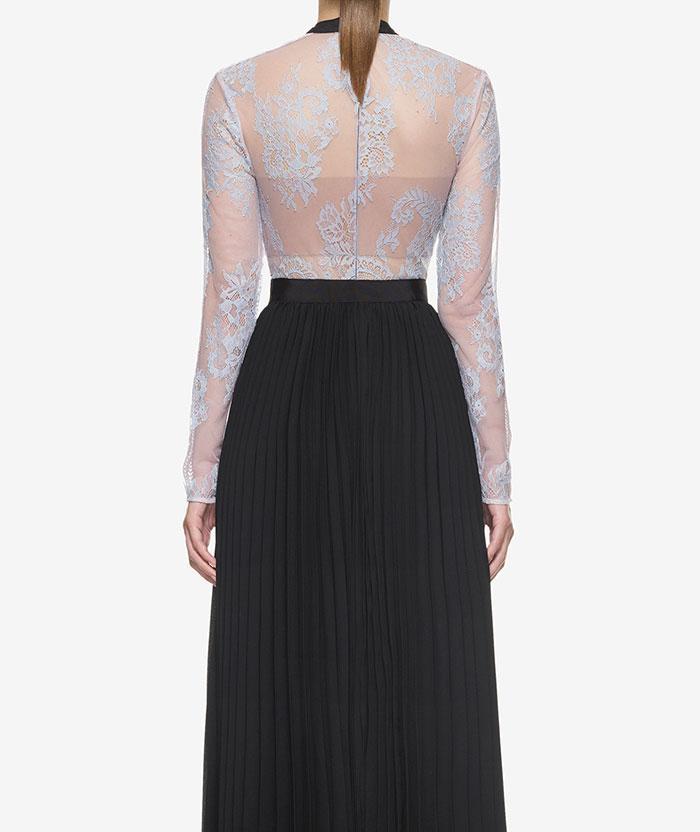 Wedding - Self Portrait Moni Lace Pleated Dress