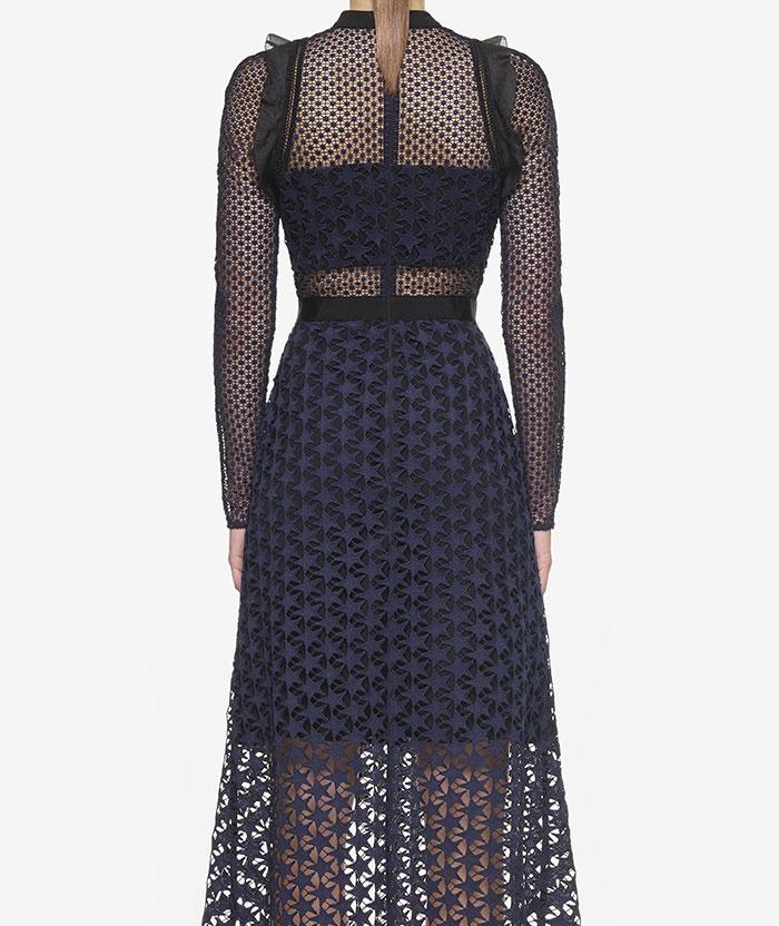 Wedding - Self Portrait Star Repeat Midi Dress