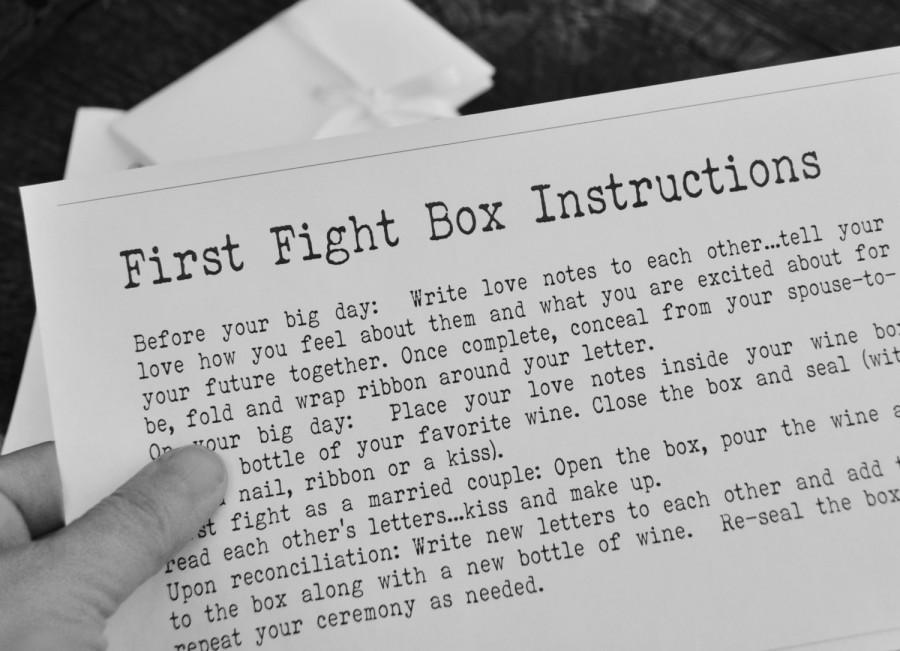 First Fight Box Instructions Digital Printable Personalized