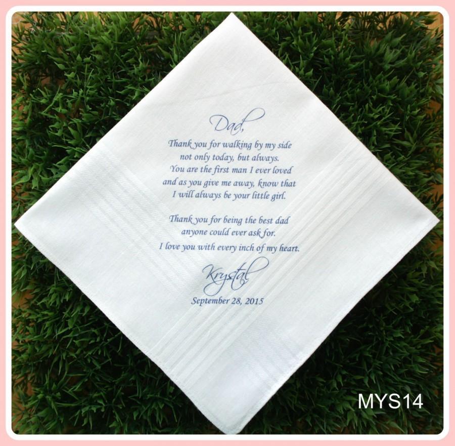 Father Of The Bridegroom Wedding Handkerchief Printed Customized