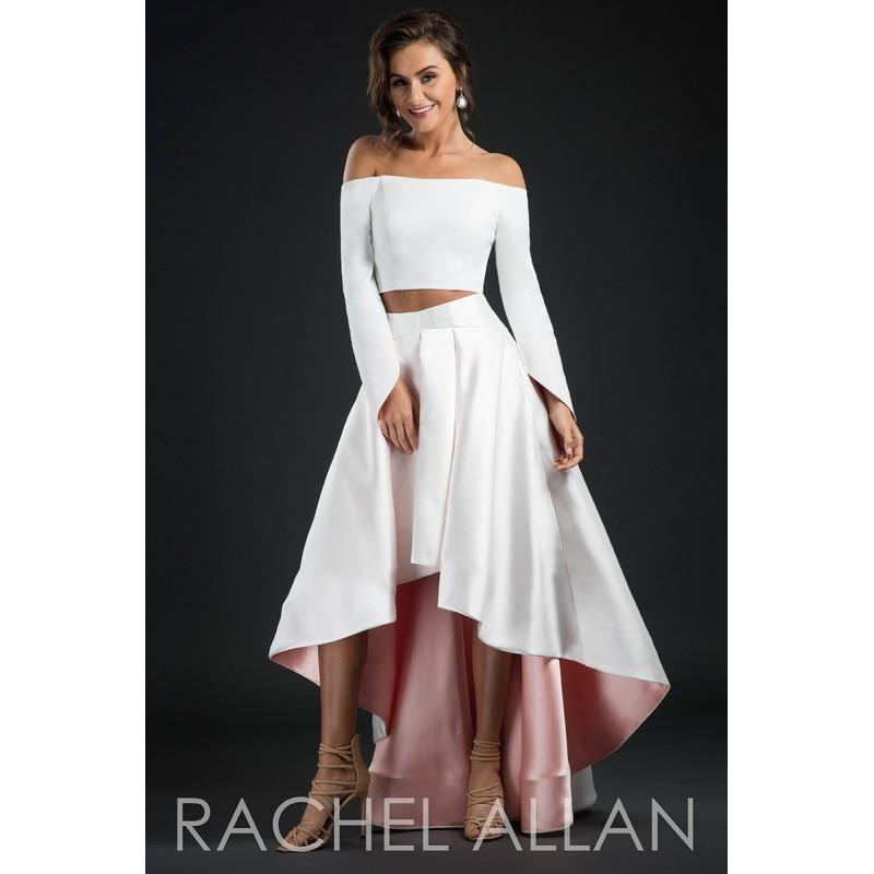 Свадьба - Rachel Allan Couture 8234 Dress - Long 2 PC, Crop Top, Fitted Social and Evenings Rachel Allan Off the Shoulder Dress - 2017 New Wedding Dresses