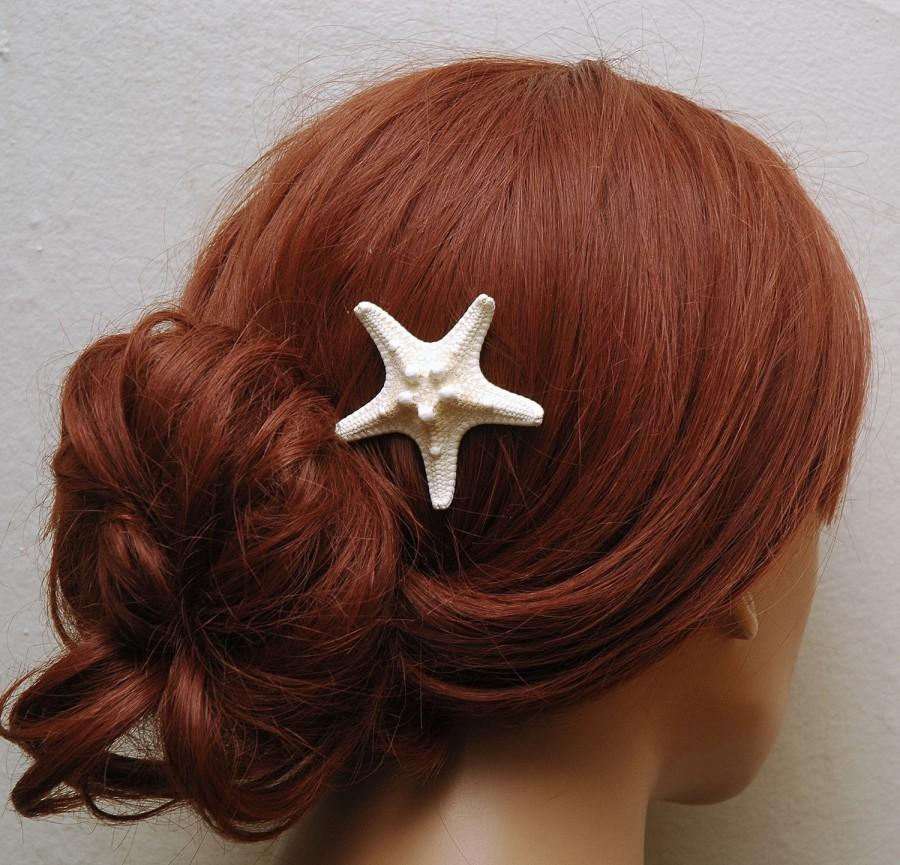 Wedding - Knobby Starfish Hair Pin Beach Wedding Headpiece Bridal Hair Accessories Mermaid Hair Piece Ocean Style Headpiece - $5.50 USD