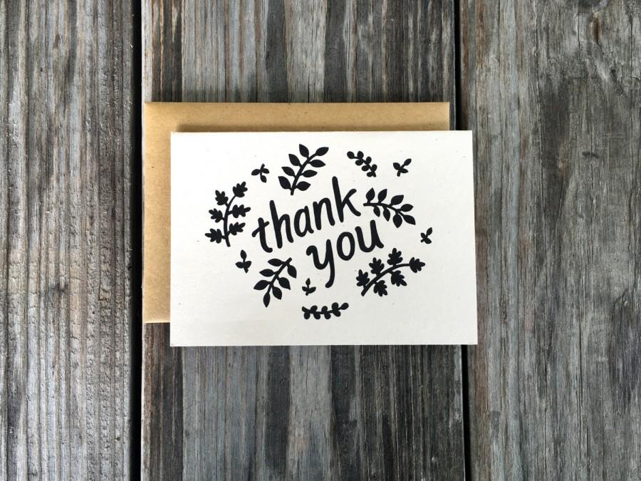 Wedding - Baby Shower Thank You Cards, Baby Shower, Hand Made Card, Thank You Cards, Rustic Thank You