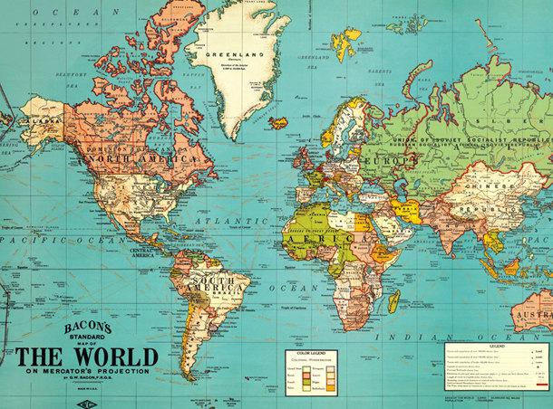 photograph relating to Printable World Map referred to as Common World-wide Map PRINTABLE -Map Print-Quick Electronic