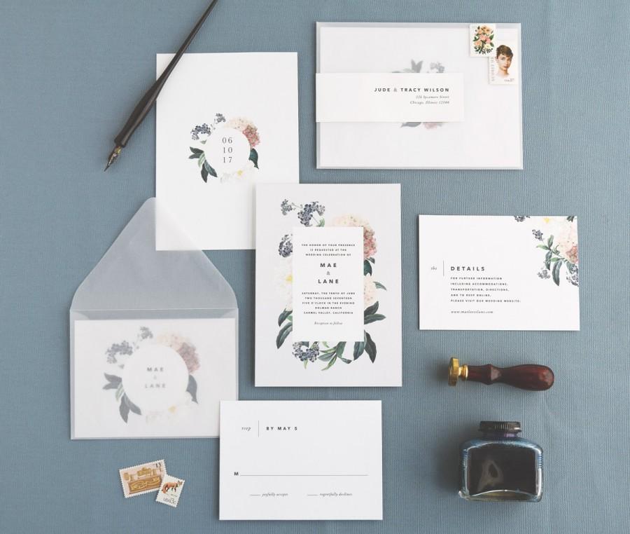 Свадьба - Mae Wedding Invitation & Correspondence Set / Botanical Floral Invitation / Sample Set