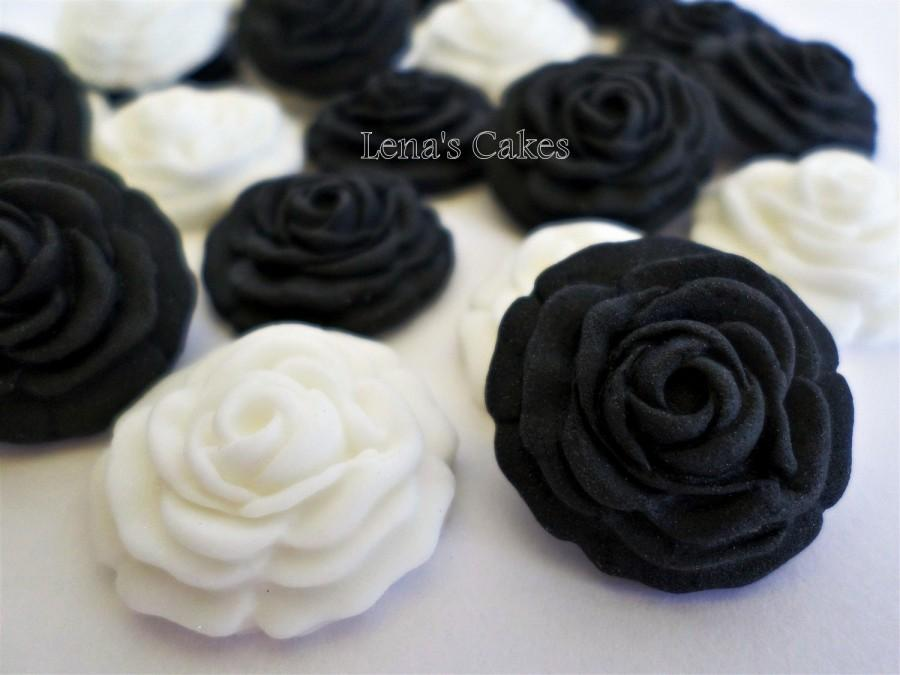 36 sugar flowers for cakes gumpaste flowers edible gothic wedding 36 sugar flowers for cakes gumpaste flowers edible gothic wedding party decor black white fondant cake topper cupcake elegant shower mightylinksfo
