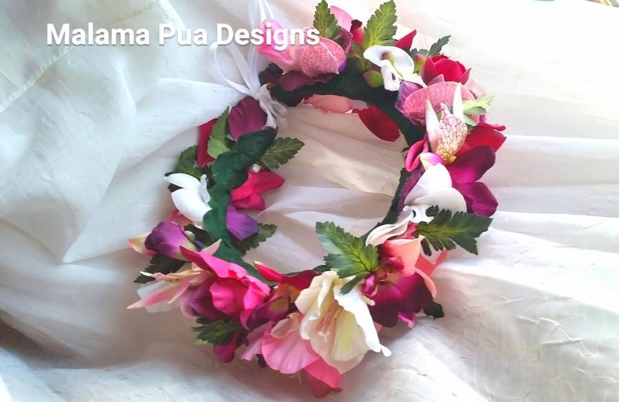 tropical headpiece bridal silk orchids hair piece beach wedding accessory flower girl custom hair accessory - Silk Orchids