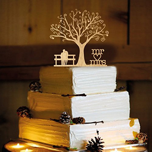 Mariage - Rustic Cake Topper - Personalized Monogram Cake Topper - Mr and Mrs - Cake Decor - Bride and Groom