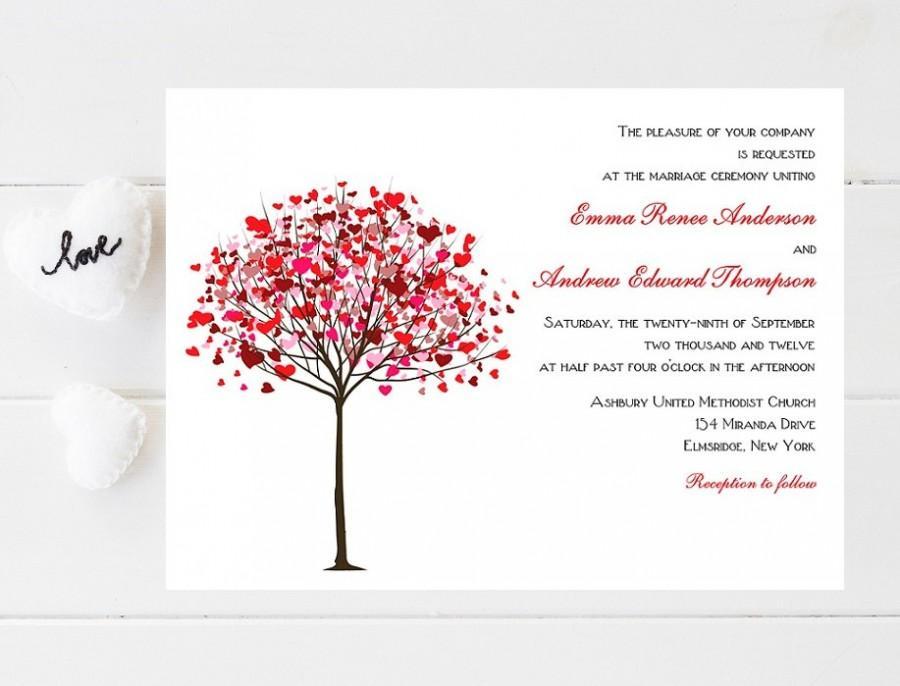 Hochzeit - Whimsical Tree Wedding Invitation - Heart Wedding Invitations - Wedding Invitations - Whimsical Wedding Invites - Wedding Invites - Weddings