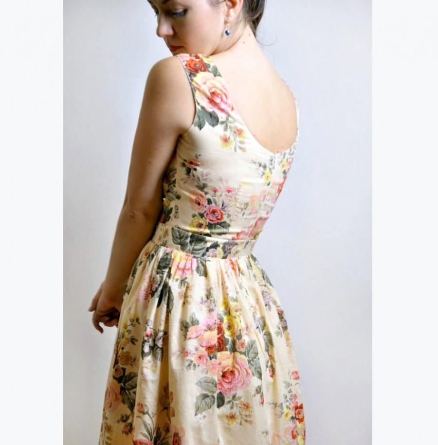 Wedding - Floral Dress, Cotton Dress, Dress With Pockets, Made to Order
