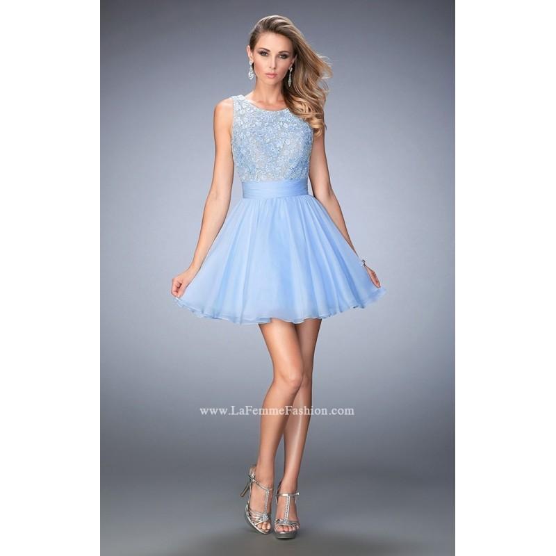 Hochzeit - Ivory La Femme 21991 - Sleeveless Short Open Back Dress - Customize Your Prom Dress