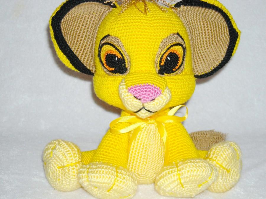 Wedding - Cute lion cub Simba plush lion stuffed animal lion crochet lion toy doll lion Knitted lion kawaii stuffed lion lion Amigurumi Simba crochet