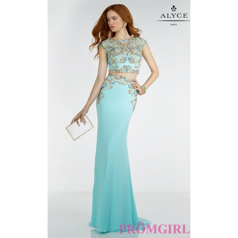 Mariage - Long Prom Dress with a Sheer Waist by Alyce - Discount Evening Dresses