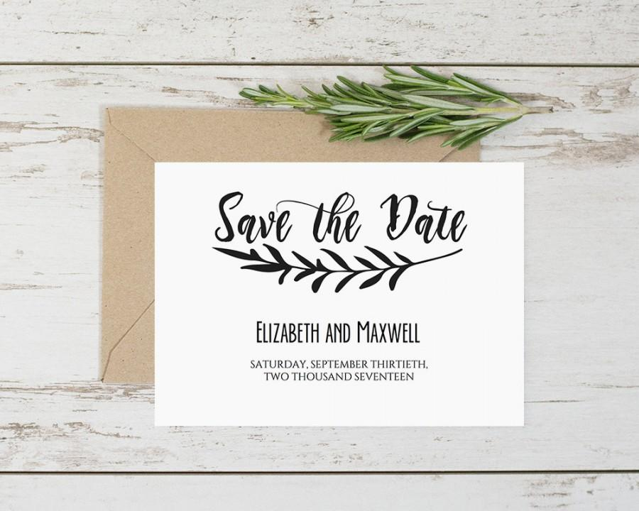 Editable Save The Date Templates, Rustic Save The Date Printable