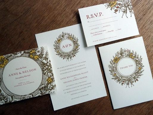 Wedding - Printable Wedding Invitation Set - Monogram Wreath - Instant Download - Vintage Wreath Wedding Invite, Save the Date, RSVP, Info Card & More