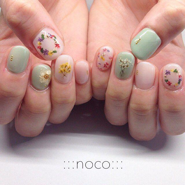 "Boda - :::nail Room Noco::: On Instagram: ""お花イロイロ…"""