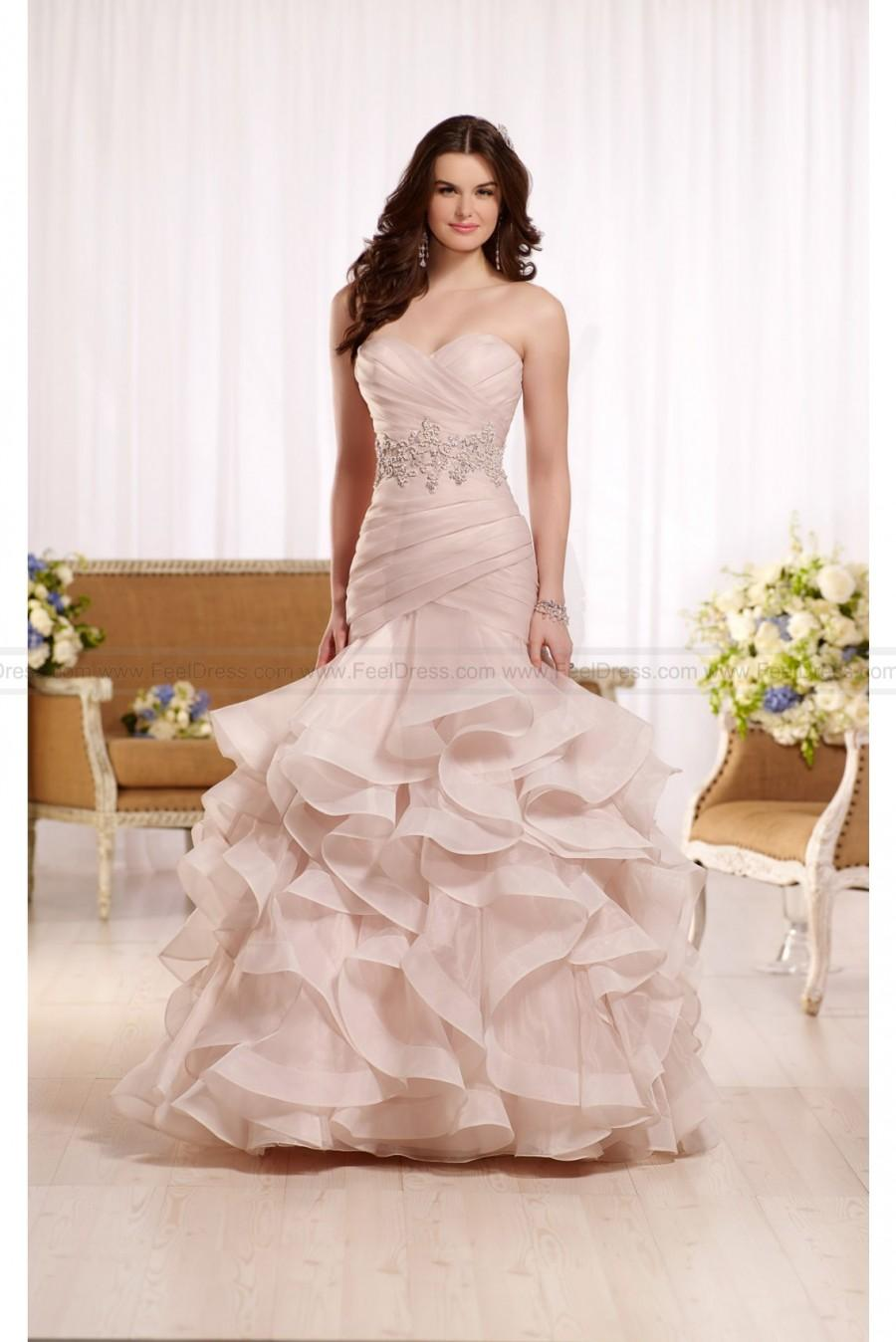 Свадьба - Essense of Australia Ruffled Wedding Dress With Ruched Bodice Style D2155