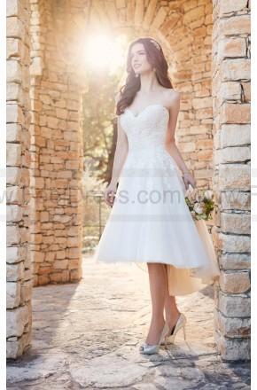 Mariage - Essense of Australia Short Wedding Dress With High-Low Skirt Style D2189