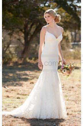 Düğün - Essense of Australia Lace Wedding Dress With Diamante Accents Style D2143