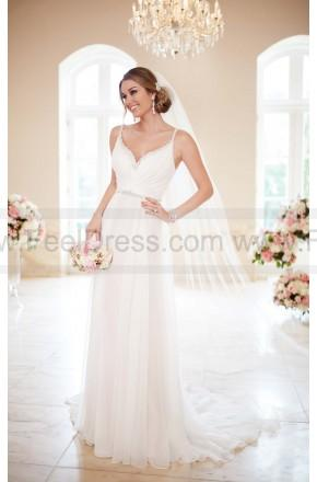 Wedding - Stella York Capri Chiffon Sheath Wedding Dress Style 6255