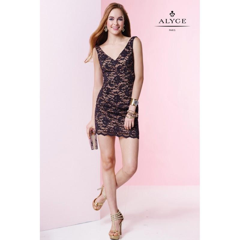 Düğün - Black/Nude Alyce Paris Homecoming 4416 Alyce Paris Shorts - Top Design Dress Online Shop