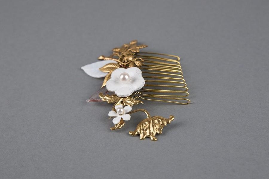 Wedding - Floral wedding hair comb