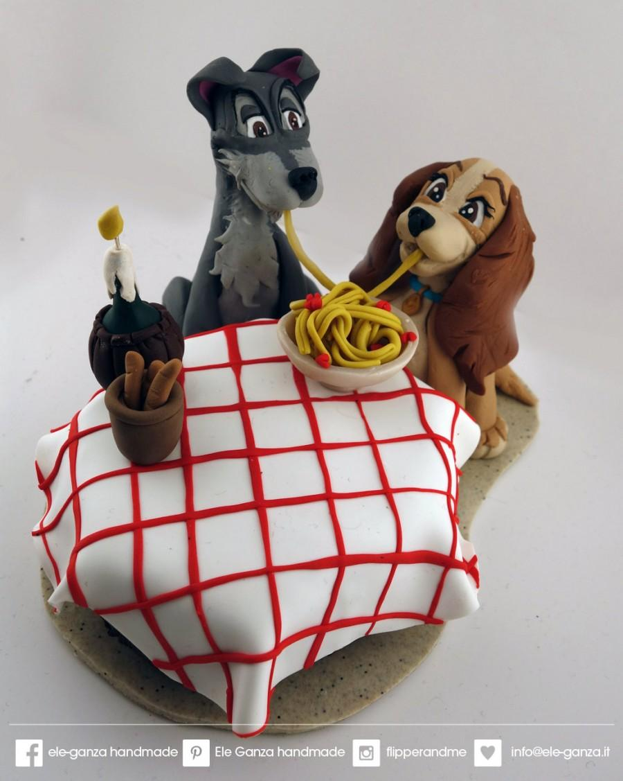 Custom Wedding Cake Topper Lady And The Tramp From Disney Movie 2682569 Weddbook