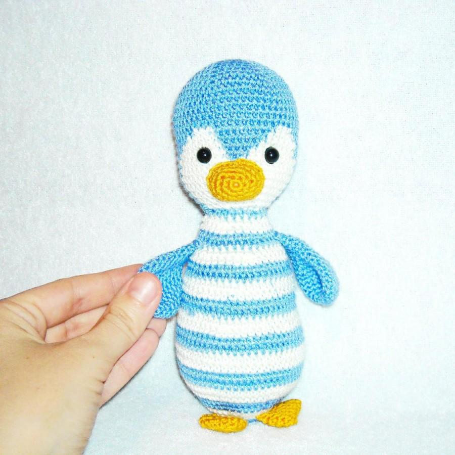 Wedding - amigurumi penguin stuffed penguin crochet penguin decoration gift Knitted penguin  plush penguin Soft toy kawaii penguin toy