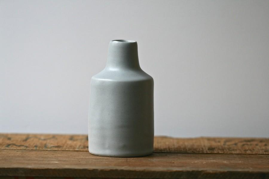 Boda - Bottle vase, SIMPLE from ColourBlock series, contemporary home decor, handmade porcelain.