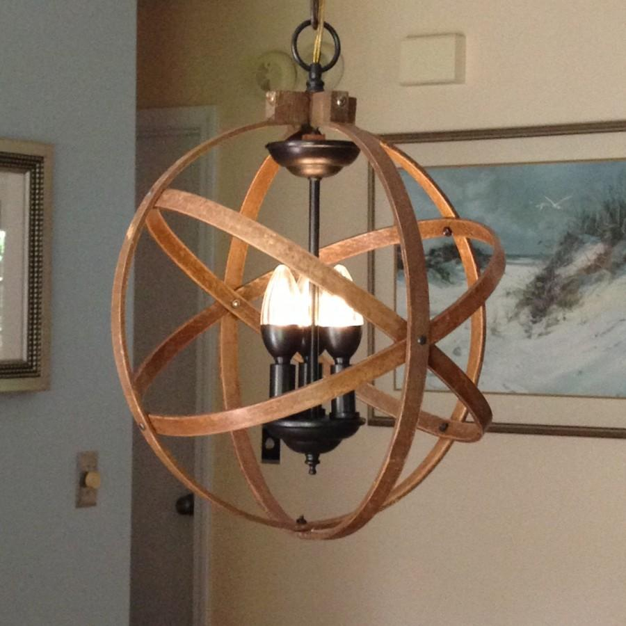 Rustic Foyer Chandelier : Orb chandelier light quot atomic fixture industrial