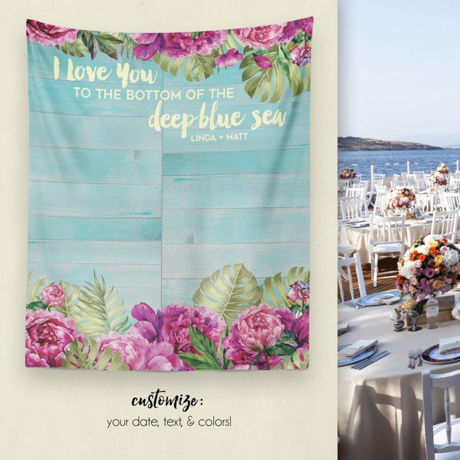 Свадьба - Beach Wedding, Party Backdrop, Dessert Table Decor, Wedding Tapestry, Wedding Backdrop, Tropical Party, Engagement Party / W-G24-TP MAR1 AA3