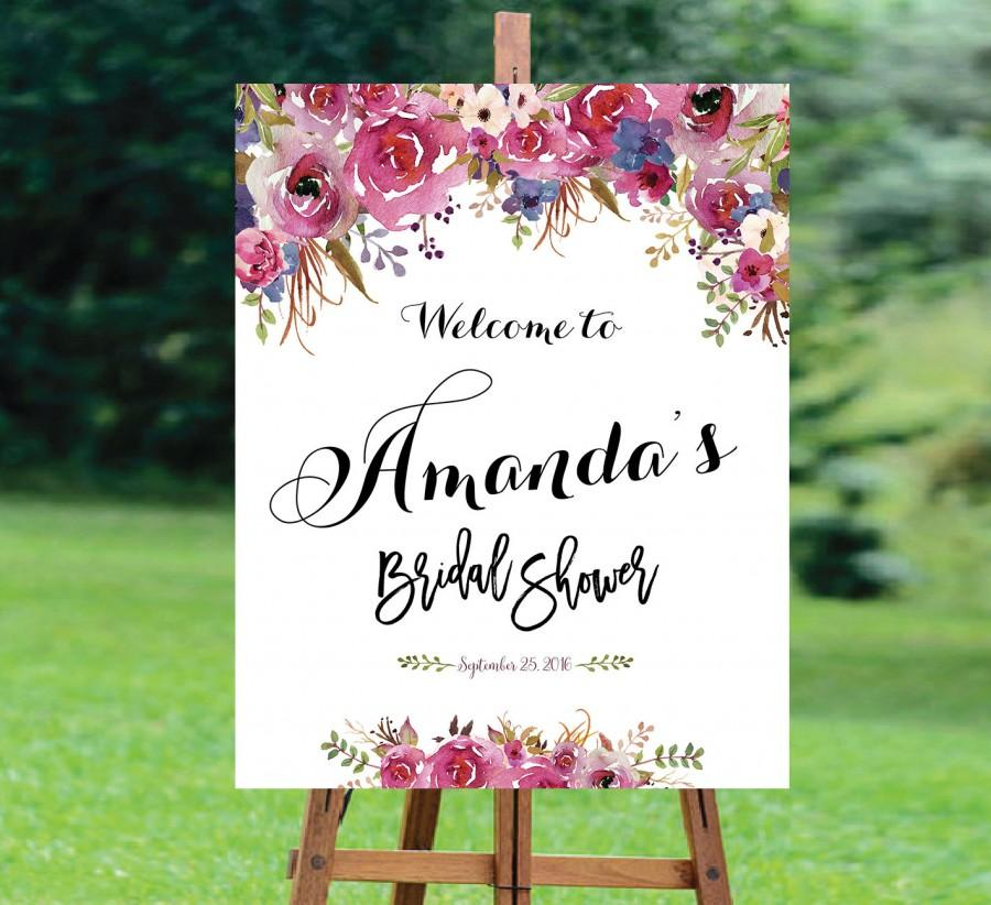 Hochzeit - Bridal Shower Welcome Sign, Bridal Shower sign, Bridal Shower decoration, welcome wedding sign, Bridal shower invitation, WSC-7idd