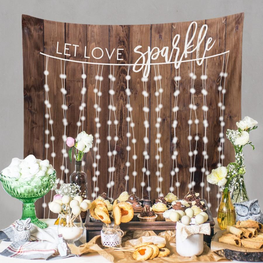 Rustic Wedding Backdrop Custom Tapestry Dessert Table Banner Engagement DIY Wall W G21 TP MAR1 AA3