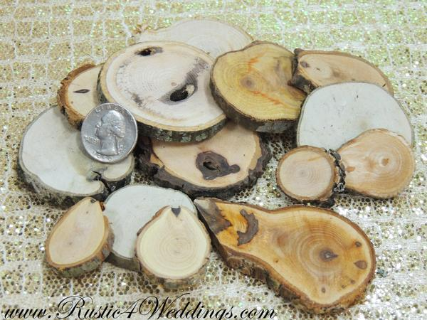 Wedding - 100 Wood Slices- 1 to 3 inch