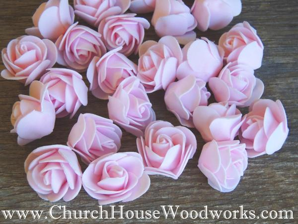 Wedding - Pink Foam Roses- Pack of 50