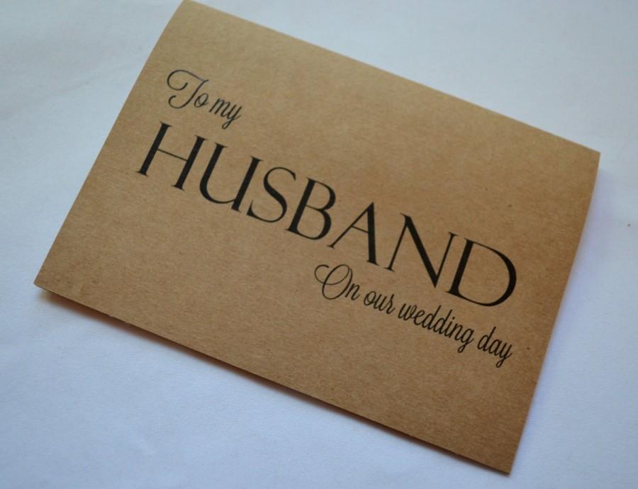 زفاف - To my HUSBAND wedding day card thank you husband card kraft husband wedding cards on my wedding day man of my dreams new husband cards love