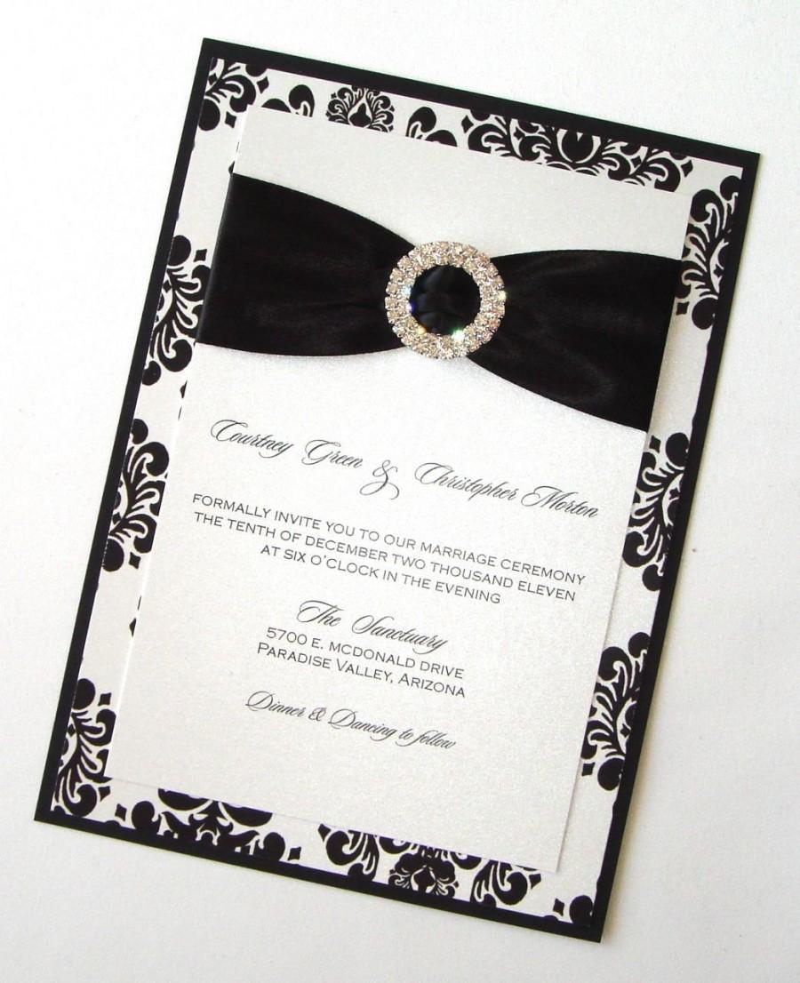Damask Wedding Invitation - Elegant Wedding Invitation - Romantic ...
