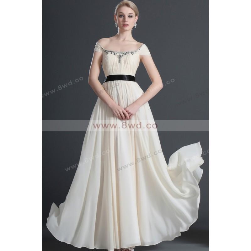Wedding - A-line Scoop Short Floor-length Chiffon Sexy Evening Dresses  In Canada Prom Dress Prices - dressosity.com