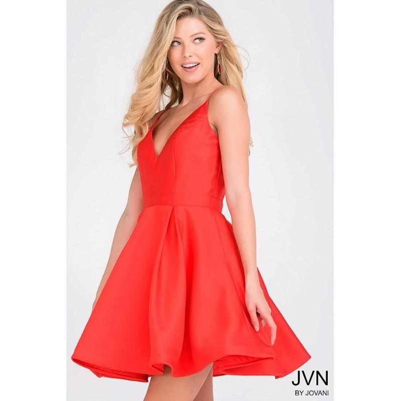 زفاف - Jovani JVN47315 Homecoming Dress - Spaghetti Strap, V Neck Short JVN by Jovani A Line Homecoming Dress - 2017 New Wedding Dresses