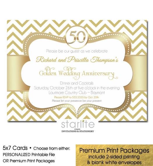 50th Anniversary Invitation Golden Wedding Anniversary 2682925