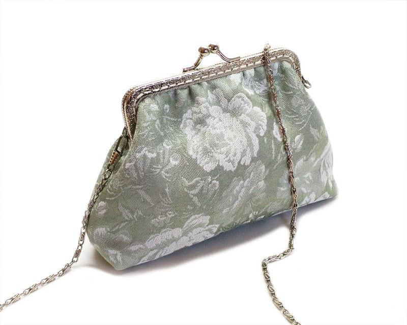 Boda - Bridal Clutch Purse - Bridesmaid Clutch Purse - Wedding Clutch Purse - Evening Clutch Purse - Silver Frame