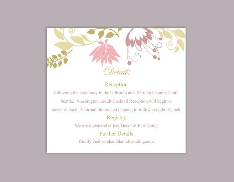 diy wedding details card template download printable wedding details