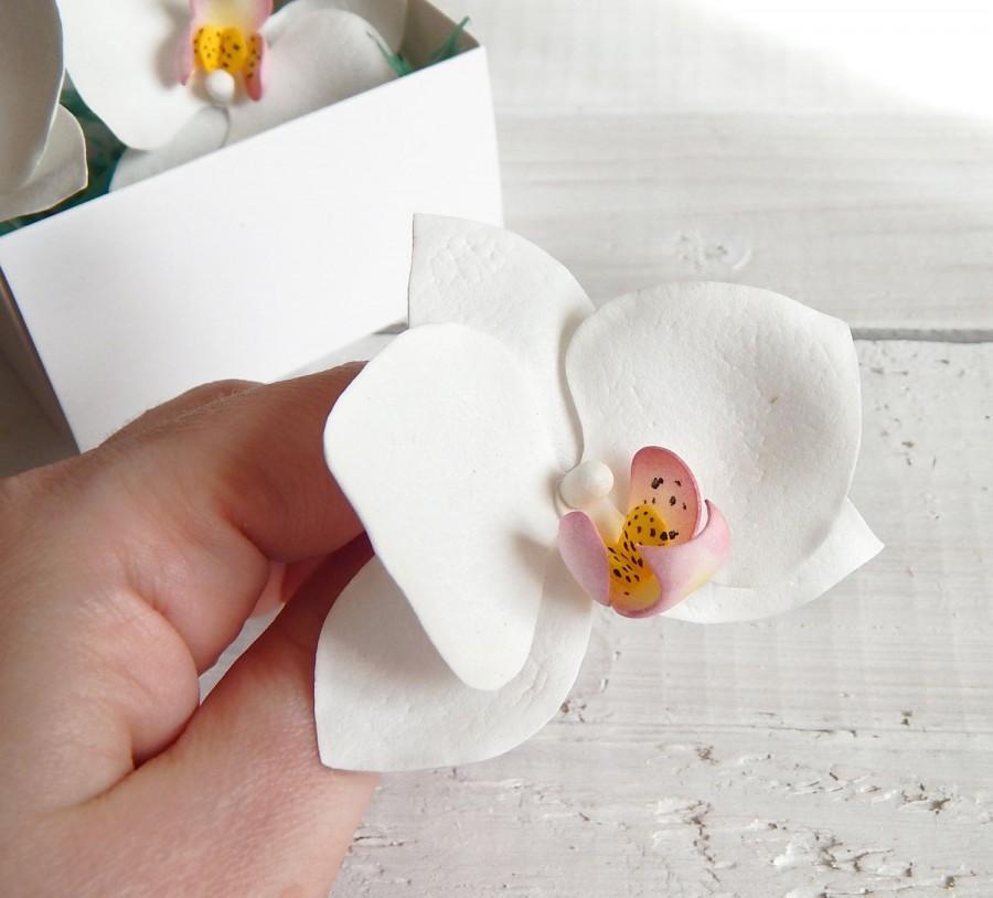 Bridal Orchid Hair Clip Wedding Hair Pin Beach Wedding Hawaii