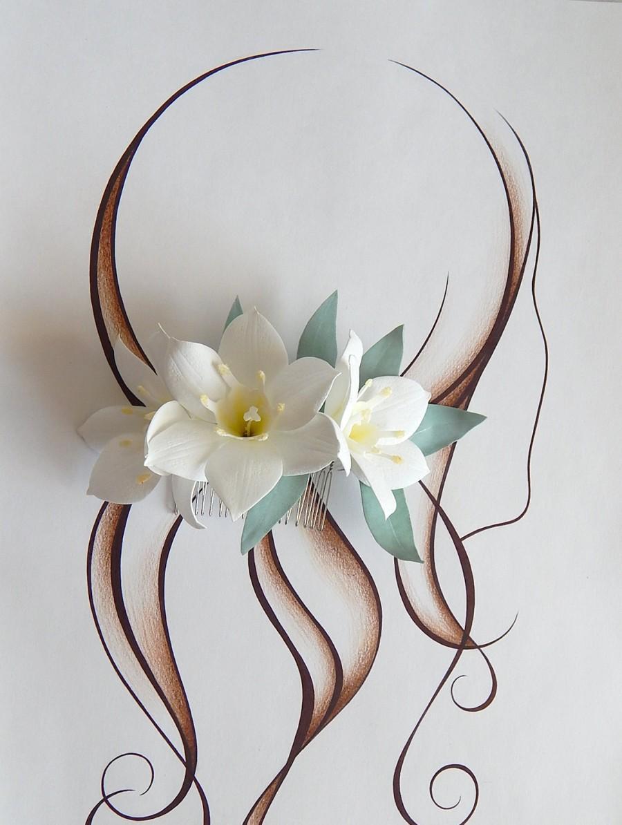 Floral Headpiece Bridal Hair Comb Wedding Hair Combs White