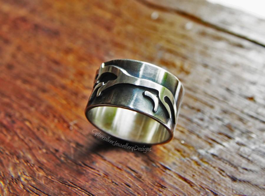 زفاف - Silver Ring White horse celtic ring Sterling silver wide ring Unique handmade jewellery Engagement ring Men ring Gift for him UK  Hallmark