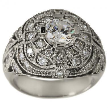 Mariage - Art Deco Diamond Engagement Ring With Milgrain and Filigree And 2.10ct Diamonds
