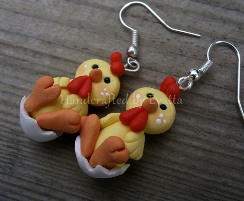 Hochzeit - Easter Chicken Earrings