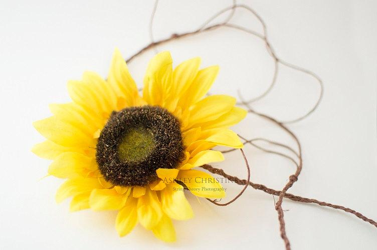 Boda - Flower Child Inspired - Hippie Chick Tieback - Faux Sunflower Tieback Headband - BOHO Chic - All age - Set of one