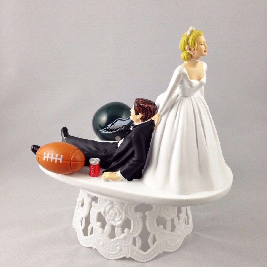 Funny Wedding Cake Topper Football Themed Philadelphia